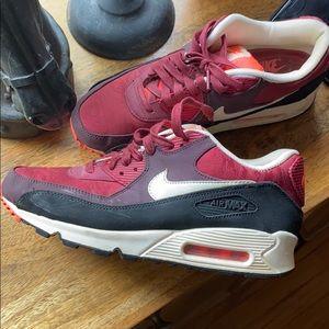 Nike air max sneakers red